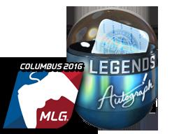 Капсула с автографом | Легенды (металлическая) | MLG Columbus 2016