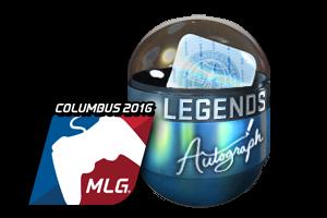 Autograph Capsule Legends Foil Mlg Columbus 2016