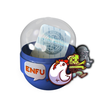 Capsule with Enfu stickers