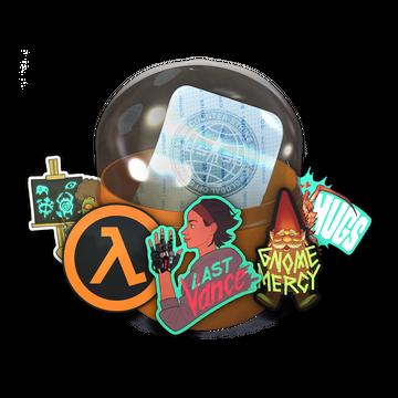 Capsule with Half-Life stickers: Alyx