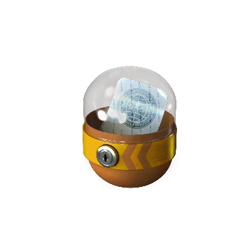 Capsule with sticker 2