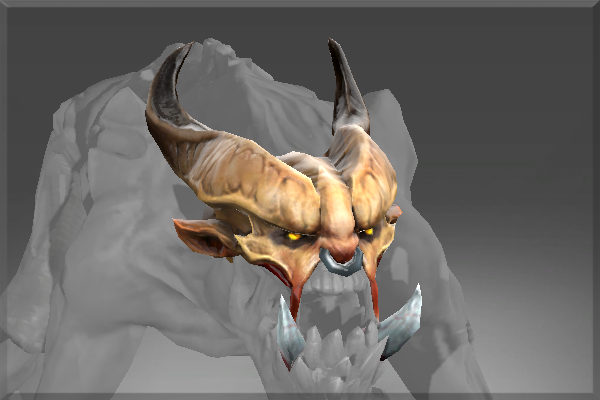 Inscribed Horned Visage of the Ravenous Fiend