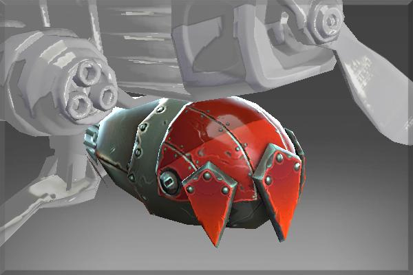 Inscribed Sky-High Warship Bomb