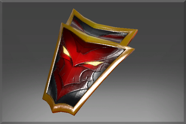 Inscribed Crimson Wyvern Shield