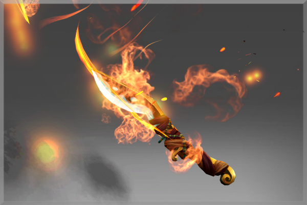 Inscribed Off-Hand Blade of the Wandering Flame
