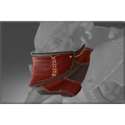 Inscribed Mask of the Crimson Cut-throat