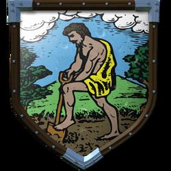 Coat of Arms - Yellow Farmer