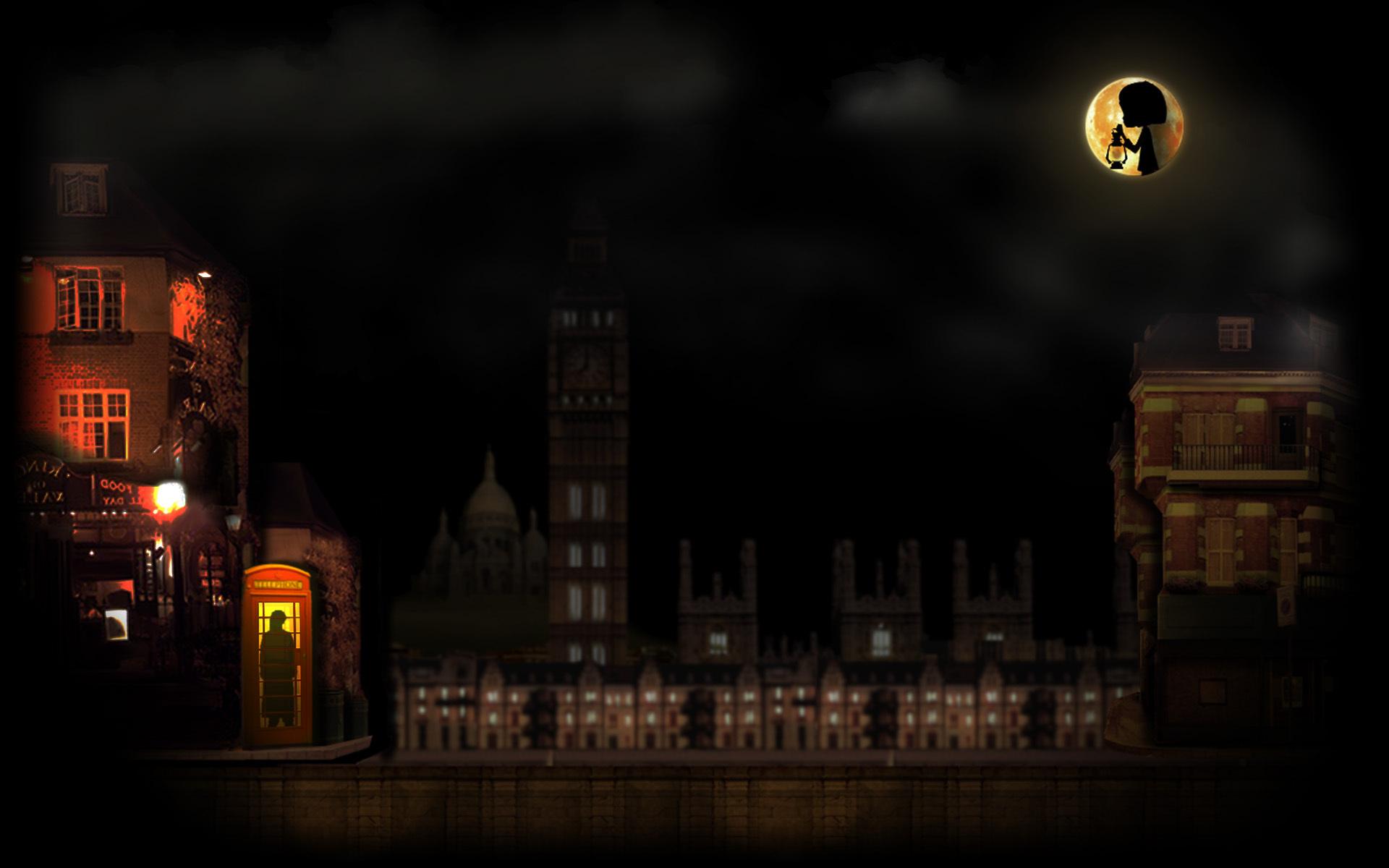 A Moonlit City