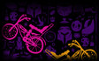 Knights And Bikes Neon Background