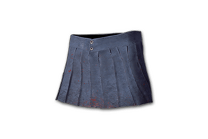 Pleated Mini Skirt Blue