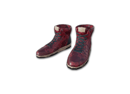 PUBG Hi-top Trainers (Red) skin icon
