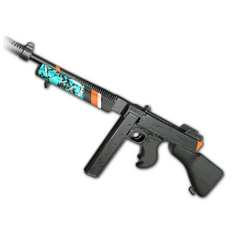 free pubg skin Turquoise Delight - Tommy Gun