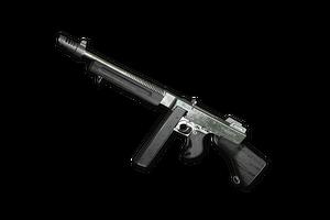 Silver Plate Tommy Gun