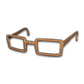 Horn-rimmed Glasses (Brown)