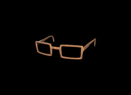PUBG Horn-rimmed Glasses (Brown) skin icon