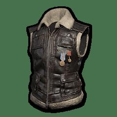 Sleeveless Biker Jacket (Black)