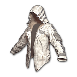 Leather Hoodie (White)