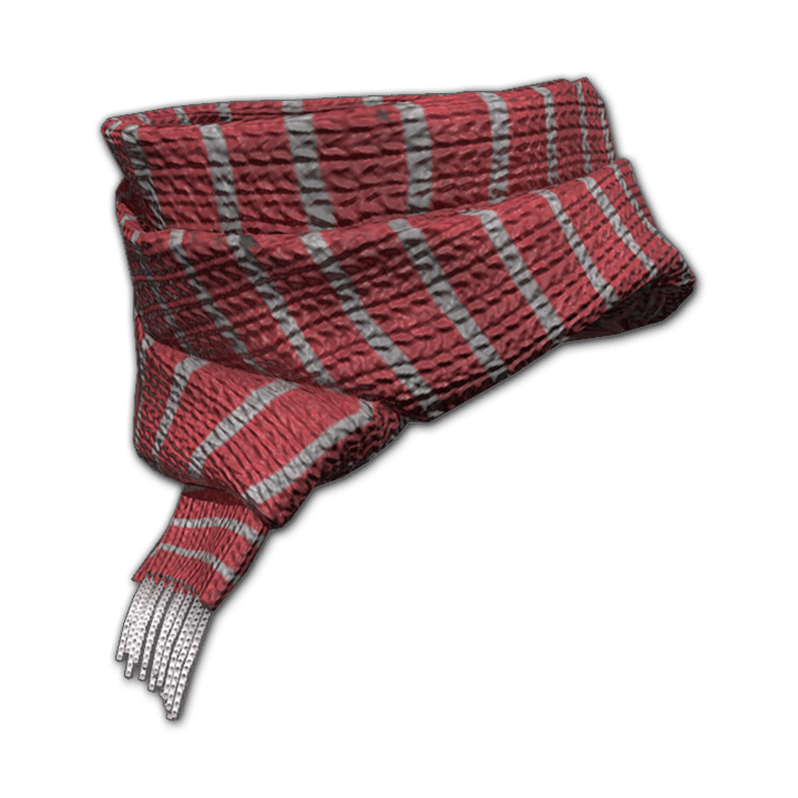 Festive Striped Scarf (Red)