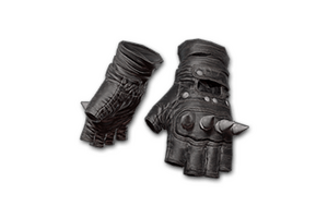 Punk Knuckle Gloves Black