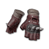 Punk Knuckle Gloves (Red)