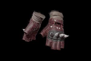 Punk Knuckle Gloves Red