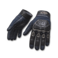 Blue Biker Gloves