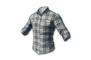 Checked Shirt White