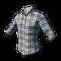 checked shirt (white)
