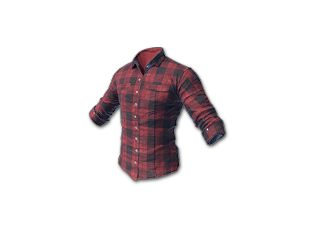 PUBG Checked Shirt (Red) skin icon