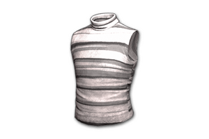 Sleeveless Turtleneck Gray Striped