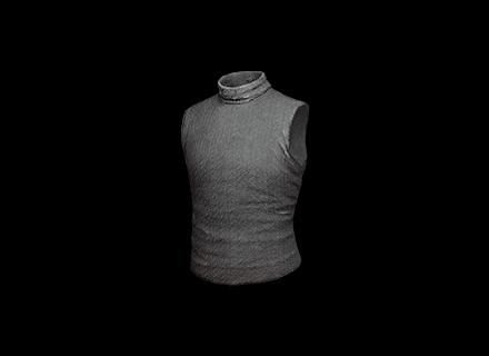 PUBG Sleeveless Turtleneck Top (Gray) skin icon
