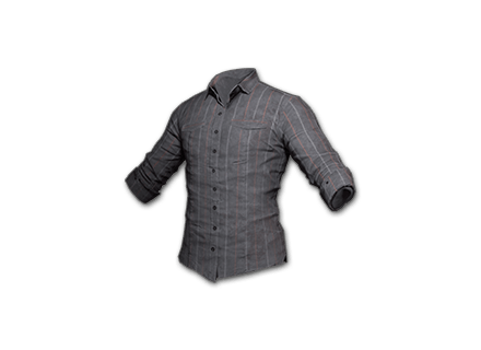 PUBG Striped Shirt (Gray) skin icon