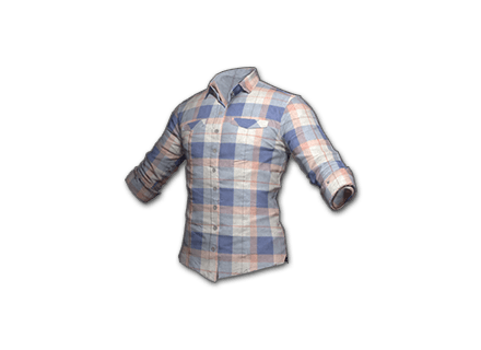 PUBG Checkered Shirt (Coral) skin icon