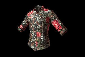 Floral Shirt Black