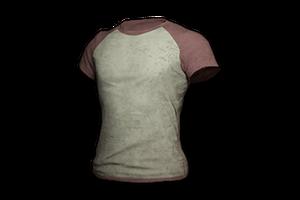 Raglan T Shirt Red White