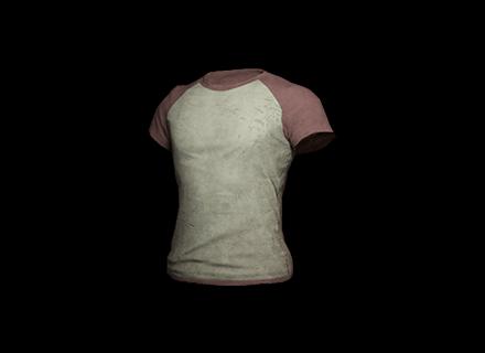 PUBG Raglan T-shirt (Red/White) skin icon