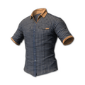 Pinstripe Short Sleeve Shirt (Gray/Gold)