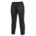 Pinstripe Slacks (Black)