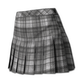 Plaid Skirt (Flannel Gray)