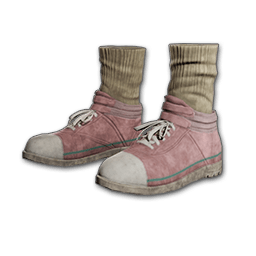 Hi-top Canvas Sneakers (Pink)