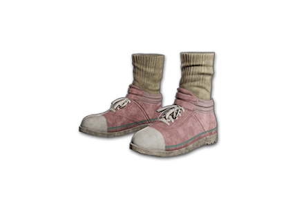 PUBG Hi-top Canvas Sneakers (Pink) skin icon