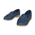 String Tie Loafers (Blue)