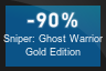 90% OFF Sniper: Ghost Warrior Gold Edition
