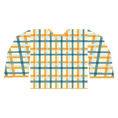 Orange Plaid Shirt