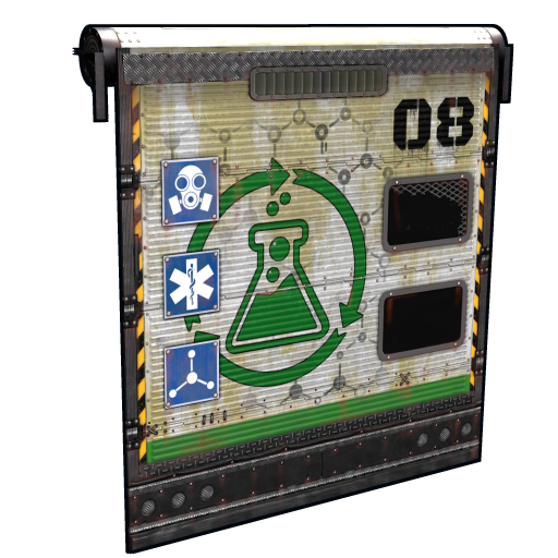 Laboratory Rolling Door as seen on a Steam Market