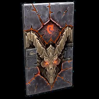 Molten Visage Metal Door