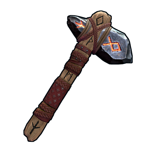 Ancient Runic Stone Hatchet as seen on a Steam Market