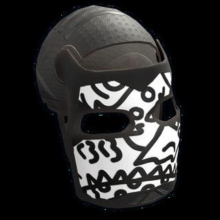 Doodle Metal Facemask