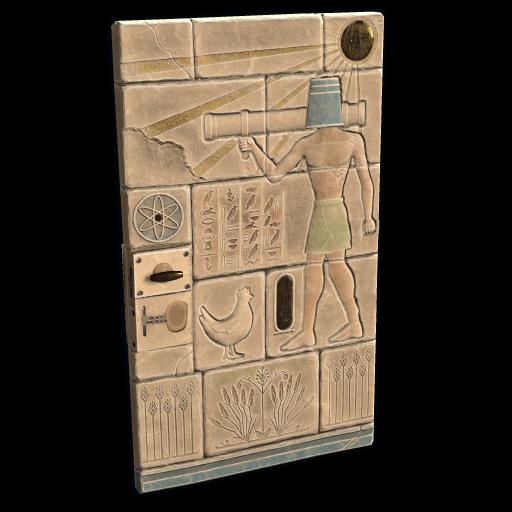 Hieroglyphic Metal Door as seen on a Steam Market