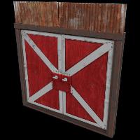 Red Barn Double Door